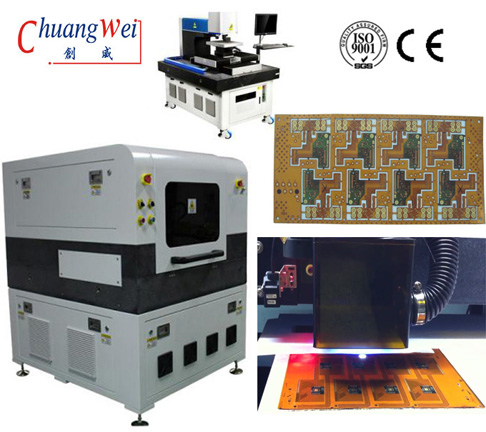 17 Watt UV Laser FPC Cutter Equipment,Laser Cutting PCB Depaneling Machine,CWVC-5L