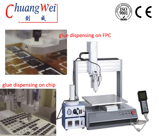 UV Glue Dispensing Robot Machine For iPhone Bezel,CW-7000N