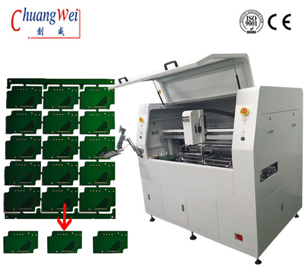 High Precision Inline CNC PCB Router Machine With 0.05mm Accuracy,CWVC-F06